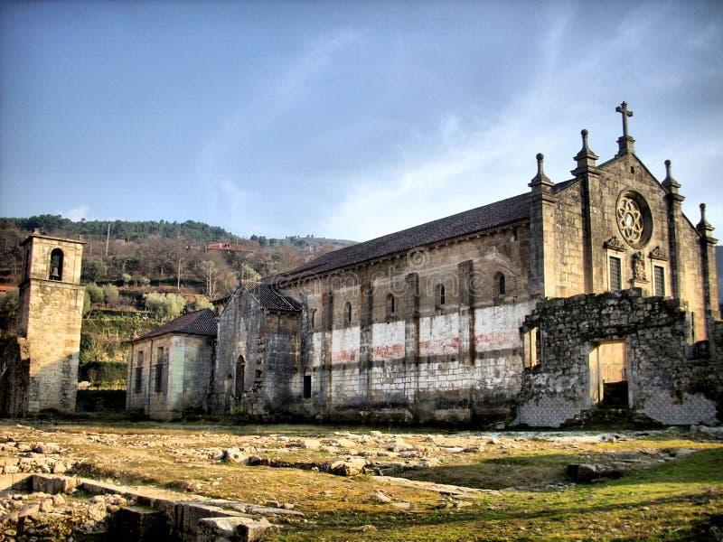 Ruinen des Klosters von Tarouca stockfoto