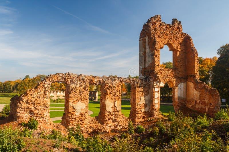 Ruinen des Landsitzes nahe Turgelyay lizenzfreies stockbild