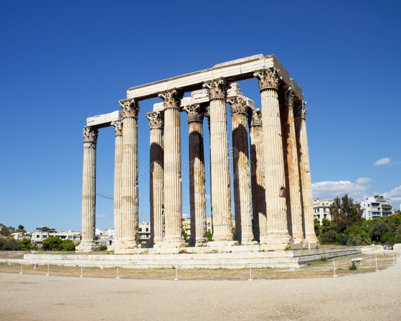 Ruinen Des Olympischen Zeustempels, Griechenland Lizenzfreie Stockfotos