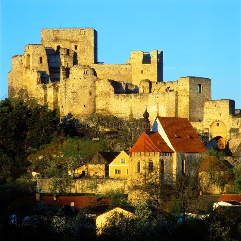 Ruinen des Rabi Schlosses stockbild
