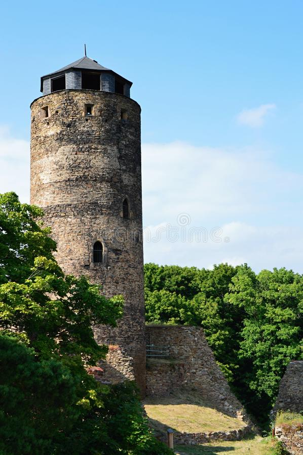 Ruinen des Schlosses stockbilder