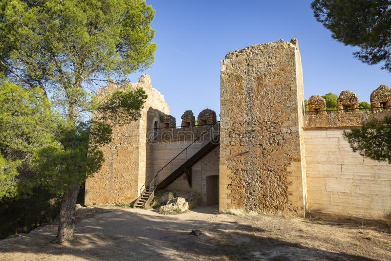 Ruinen des Schlosses Anento-Dorfs stockfotos