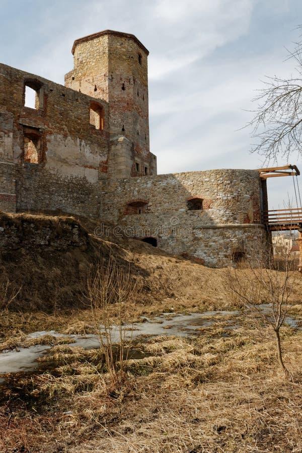 Ruinen des Schlosses Siewierz 06 lizenzfreie stockbilder