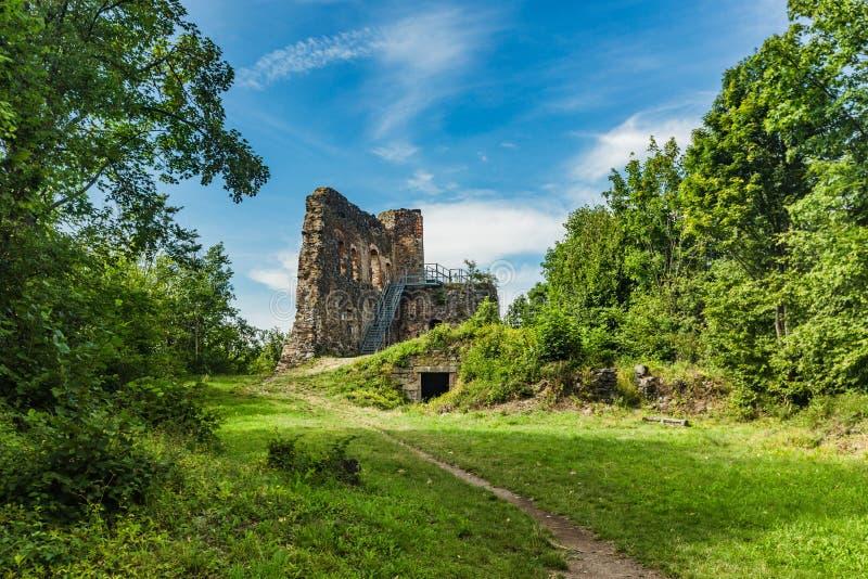 Ruinen des Schlosses Svamberk lizenzfreie stockfotos