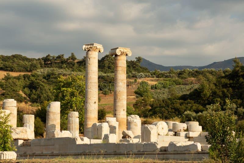 Ruinen des Tempel der Artemiss stockbilder