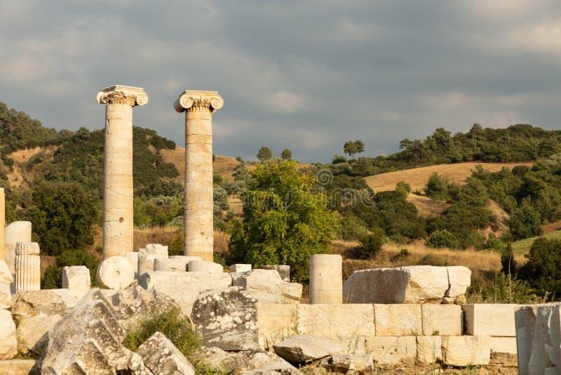 Ruinen des Tempel der Artemiss stockfoto