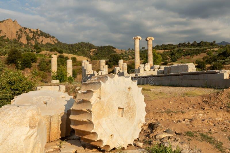 Ruinen des Tempel der Artemiss lizenzfreies stockfoto
