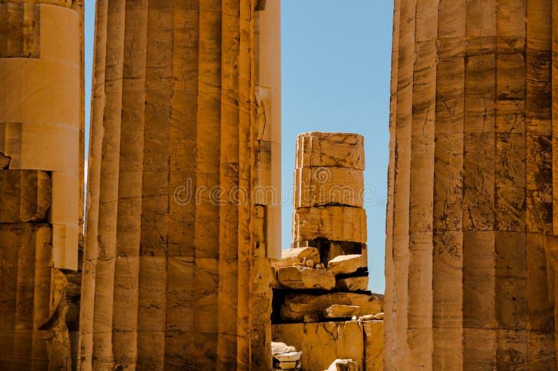 Ruinen des Tempels in Griechenland stockfotos