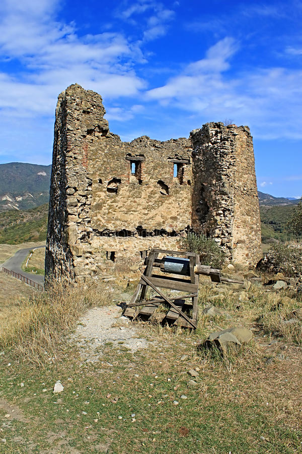 Ruinen des Turms Jvari-Klosters, Georgia stockfoto