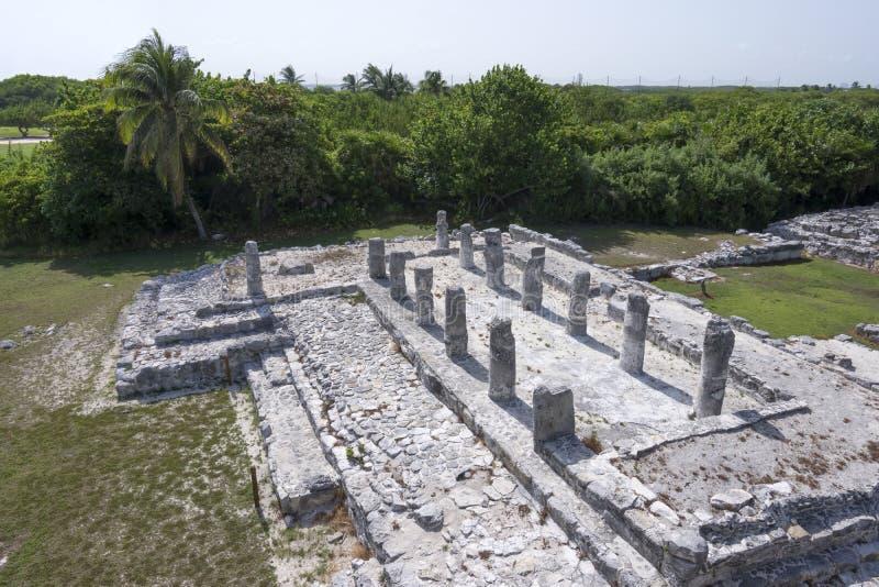 Ruinen EL Rey in Cancun lizenzfreies stockfoto