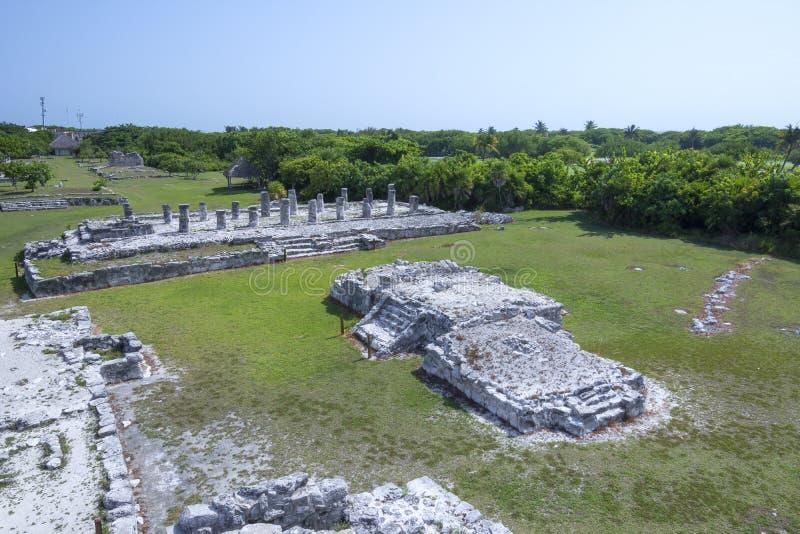 Ruinen EL Rey Maya stockfotografie