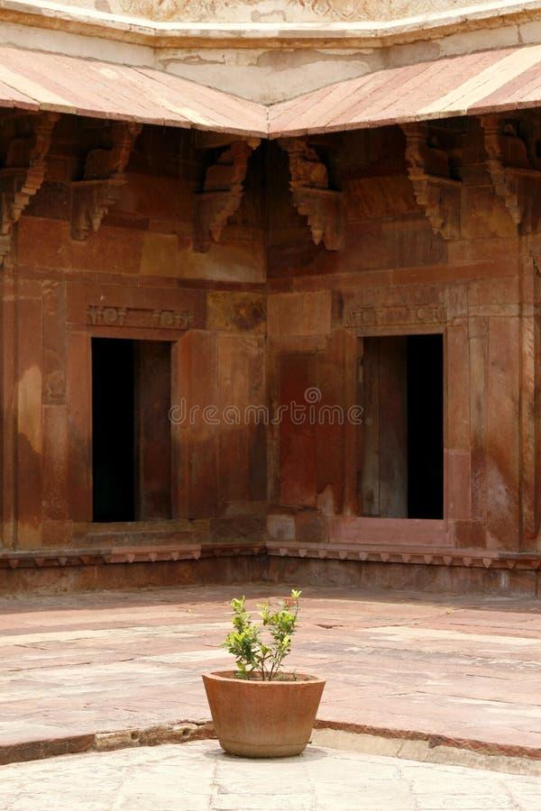 Ruinen Fatehpur Sikri des Komplexes, Indien stockbilder