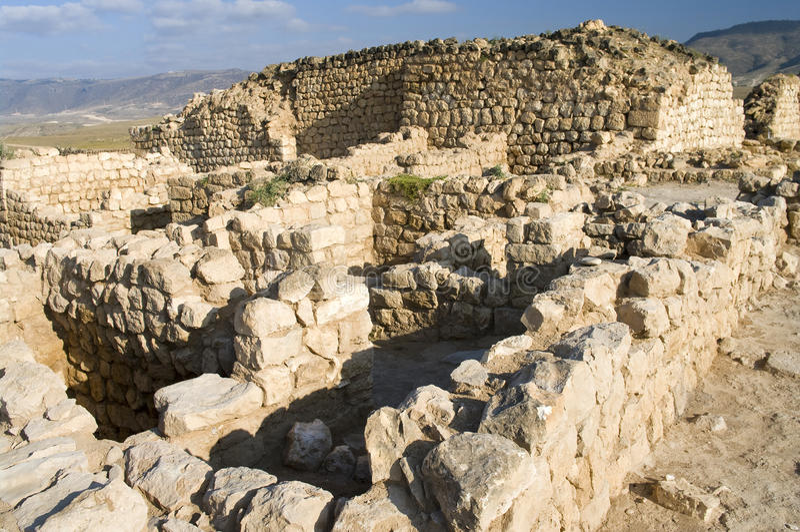 Ruinen Khor Rouri, in Oman stockfotografie