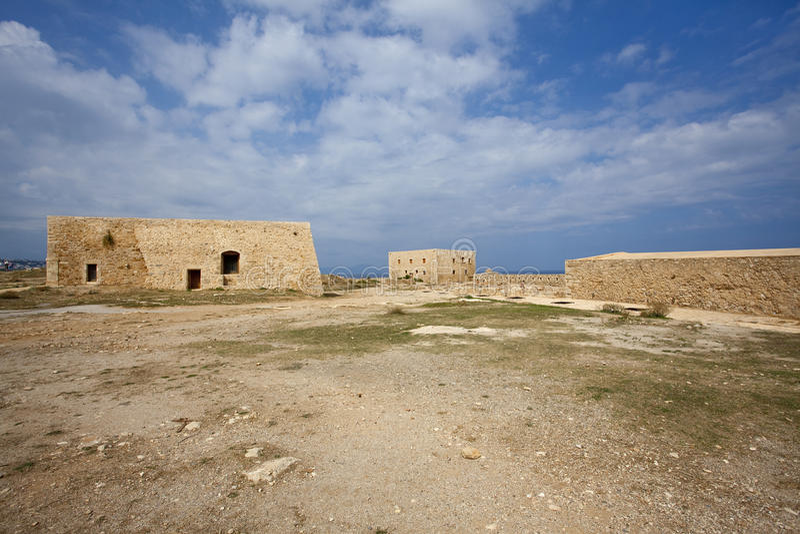 Ruinen in Kreta stockfoto