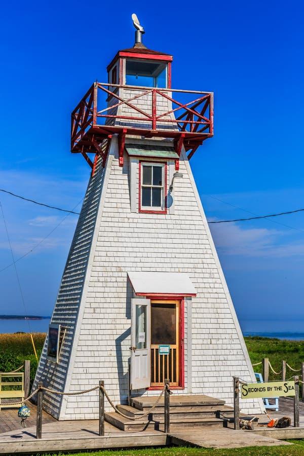 Ruinen-Leuchtturm, PEI, Kanada lizenzfreie stockfotos