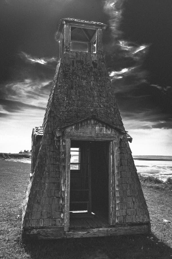 Ruinen-Leuchtturm, PEI, Kanada lizenzfreies stockbild