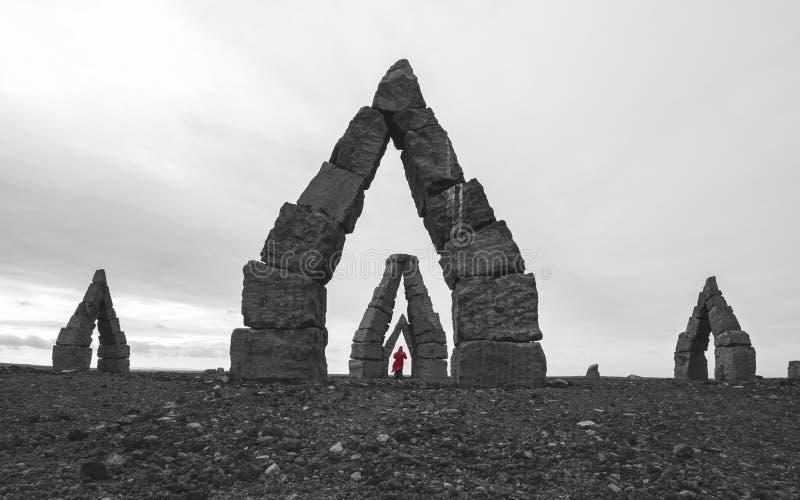 Ruinen nördlichen Polarkreises Islands lizenzfreies stockbild