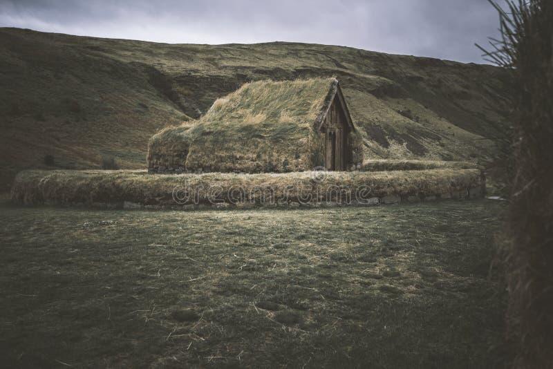 Ruinen nördlichen Polarkreises Islands stockfotografie