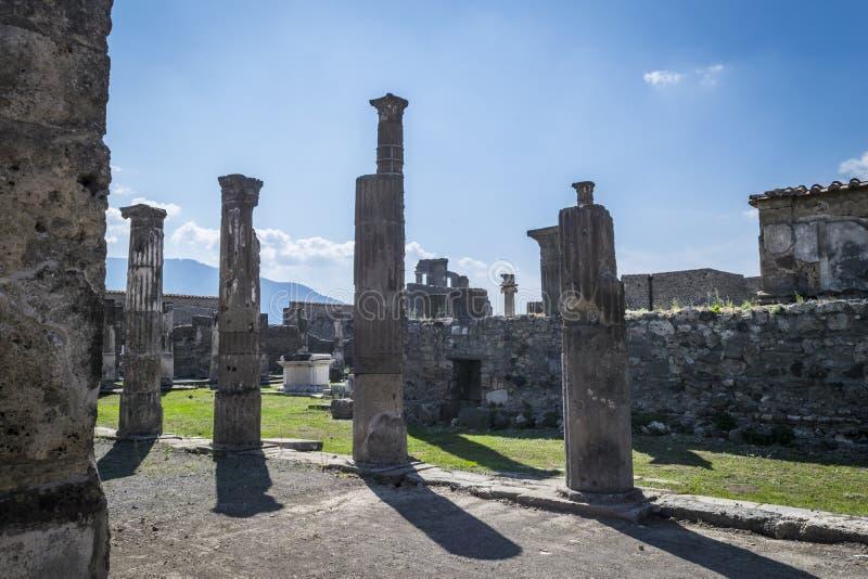Ruinen in Pompeji, Italien lizenzfreies stockbild