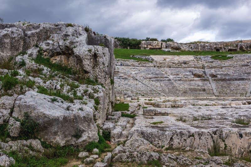 Ruinen in Syrakus stockfotografie