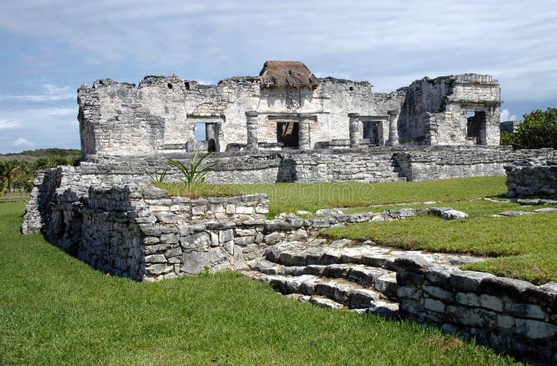 Ruinen in Tulúm - Mexiko lizenzfreie stockbilder