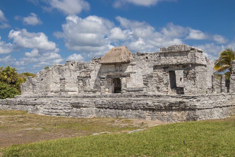 Ruinen in Tulum, Mexiko lizenzfreie stockfotos