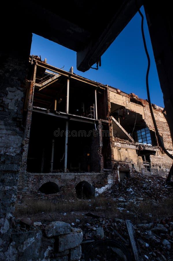 Ruinen - verlassene Hudepohl-Brauerei - Cincinnati, Ohio lizenzfreie stockfotos