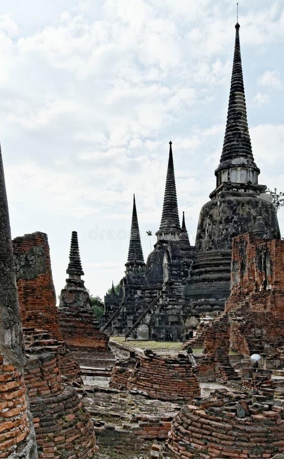 Ruinen von Ayutthaya in Thailand lizenzfreie stockbilder