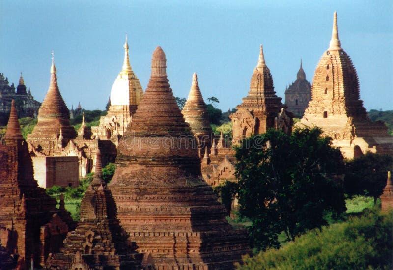 Ruinen von Bagan lizenzfreie stockfotos