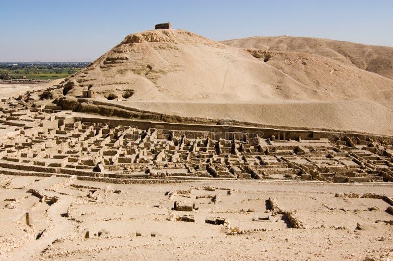 Ruinen von Deir EL Medina, Luxor stockbild