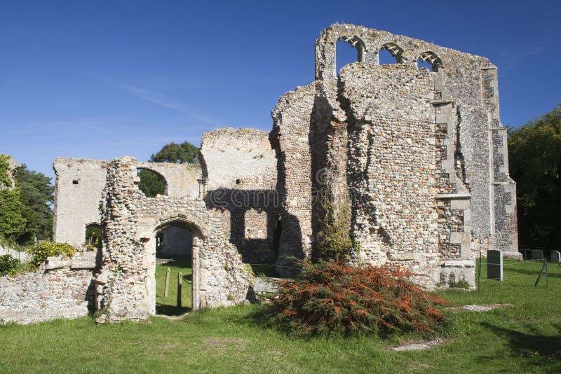 Ruinen von der ehemaligen des St Andrew Kirche, Walberswick, Suffolk, en lizenzfreies stockbild