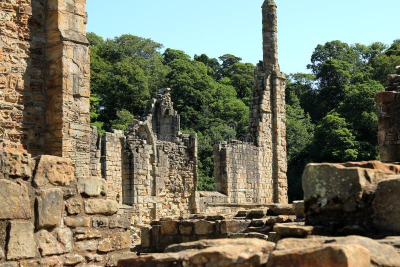 Ruinen von Finchale-Kloster stockfotos