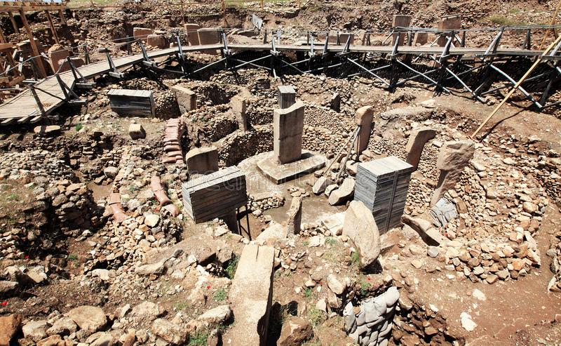 Ruinen von Gobekli Tepe lizenzfreies stockbild