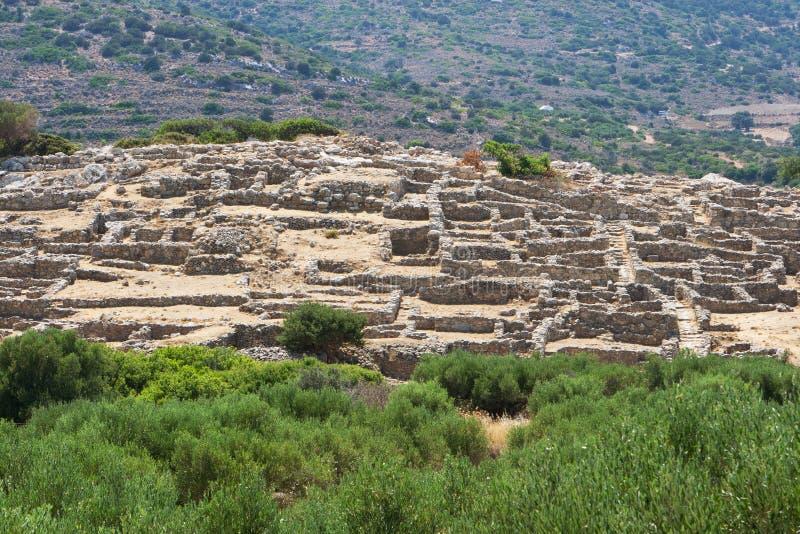 Ruinen von Gournia, Kreta, Griechenland stockfotos