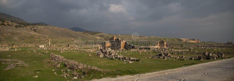Ruinen von Hierapolis stockfoto