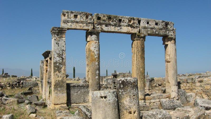 Ruinen von Hierapolis in Denizli, die Türkei stockbilder