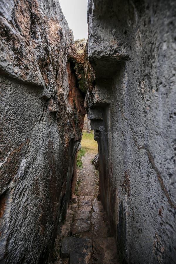 Ruinen von Inka-Gebäuden Chinchero, Peru stockbilder