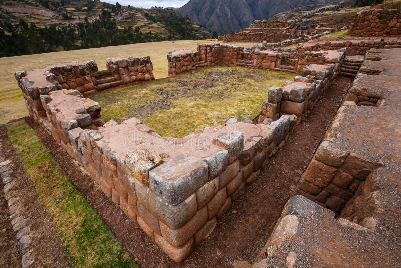 Ruinen von Inka-Gebäuden Chinchero, Peru stockfotografie