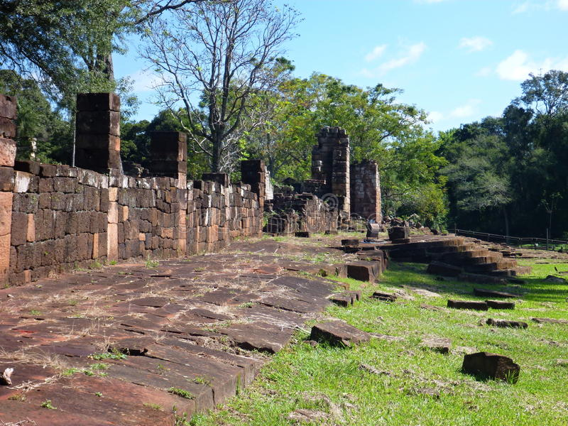 Ruinen von Jesuitaufträgen in Argentinien stockfotos