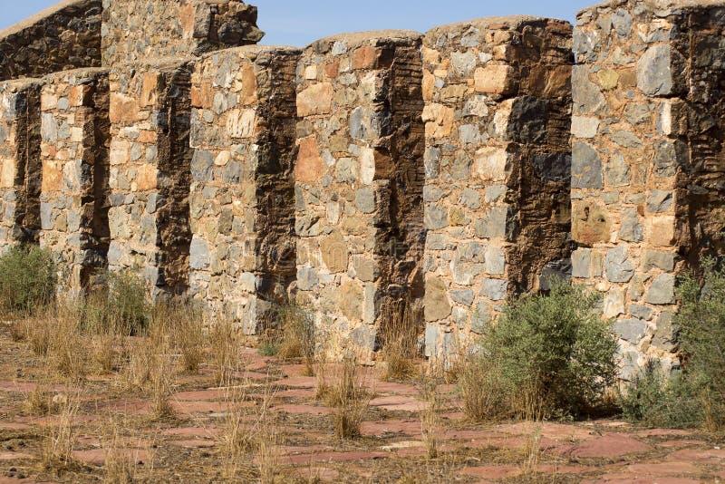 Ruinen von Kanyaka-Station, Flinders-Strecken, Süd-Australien lizenzfreie stockbilder