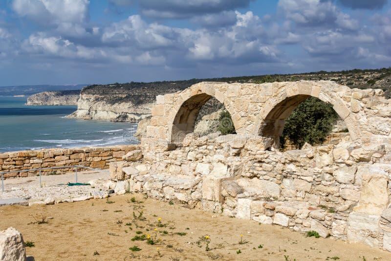 Ruinen von Kourion, eine altgriechische Stadt in Zypern lizenzfreies stockbild