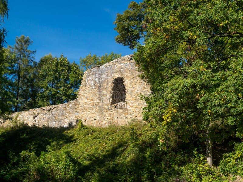 Ruinen von Lanckorona-Schloss stockfoto