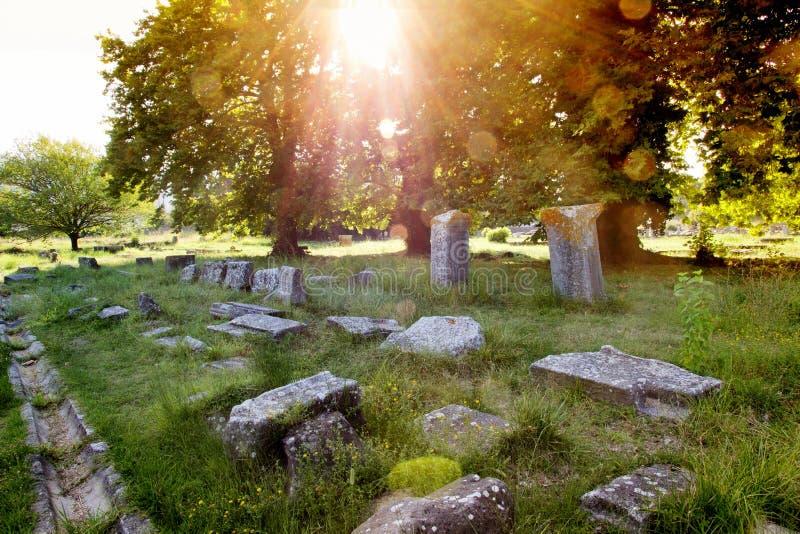 Ruinen von Limenas-Agora lizenzfreies stockbild