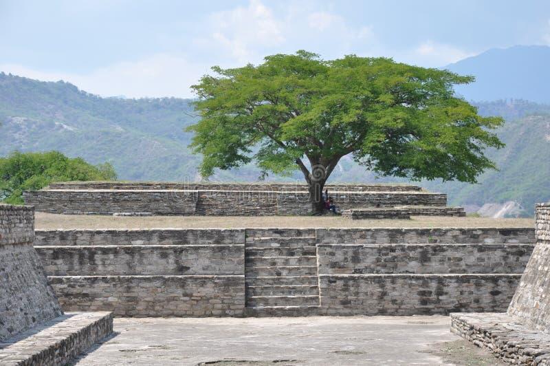 Ruinen von Mixco Viejo, Guatemala stockfotografie