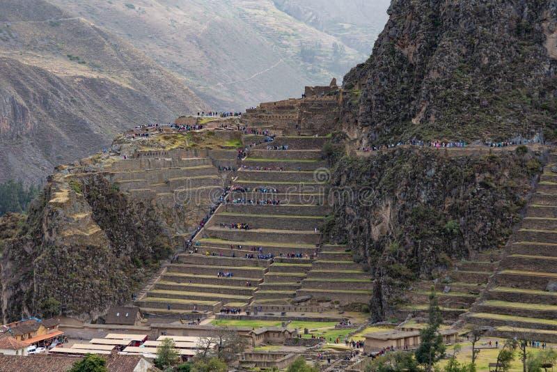 Ruinen von Ollantaytambo in Peru lizenzfreies stockfoto