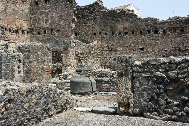 Ruinen von Pompey lizenzfreie stockbilder