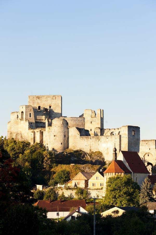 Ruinen von Rabi-Schloss, Tschechische Republik lizenzfreies stockfoto