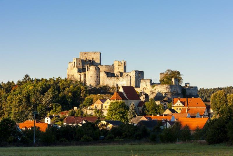 Ruinen von Rabi-Schloss, Tschechische Republik stockbilder