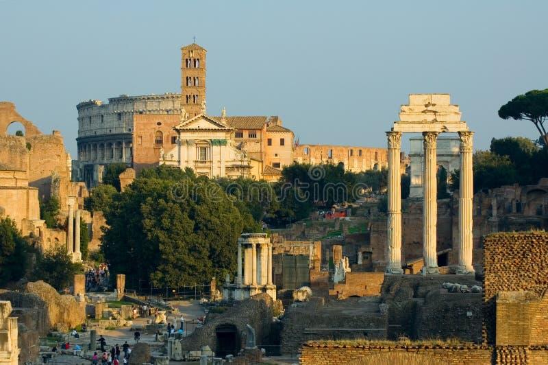 Ruinen von Rom stockbilder