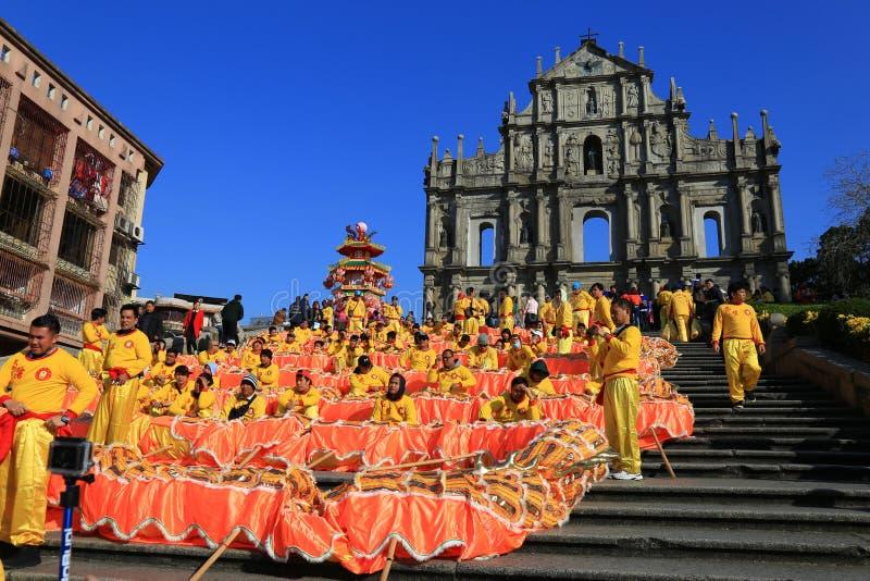 Ruinen von St Paul Kathedrale, Macao stockbilder